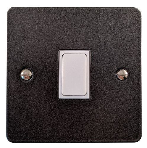 G&H FP1W Flat Plate Pewter 1 Gang 1 or 2 Way Rocker Light Switch
